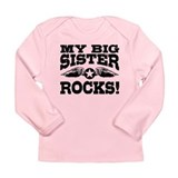 My Big Sister Rocks Long Sleeve Infant T-Shirt