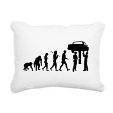Auto Mechanic Rectangular Canvas Pillow