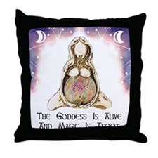 Goddess Is Alive Throw Pillow