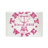 Trophy Wife Since 2013 pink Rectangle Magnet