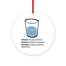 Optimist/Pessimist/Engineer Ornament (Round)
