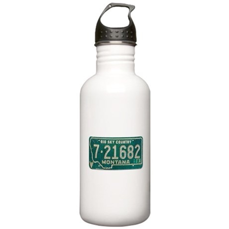 1974 Montana License Plate Stainless Water Bottle