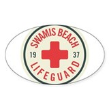 Swamis Lifeguard Badge Decal