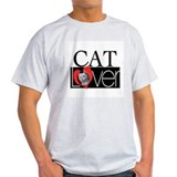 Cat Lover Ash Grey T-Shirt