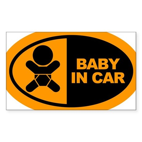 Baby in Car Safety Sticker for Car Sticker