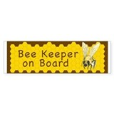 Bee Keeper on Board ~ Car Sticker