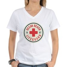 Ocean Beach Lifeguard Patch Shirt