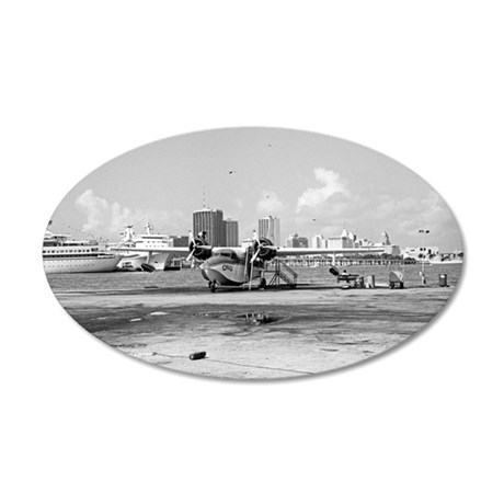 Seaplane Base: Miami 35x21 Oval Wall Decal