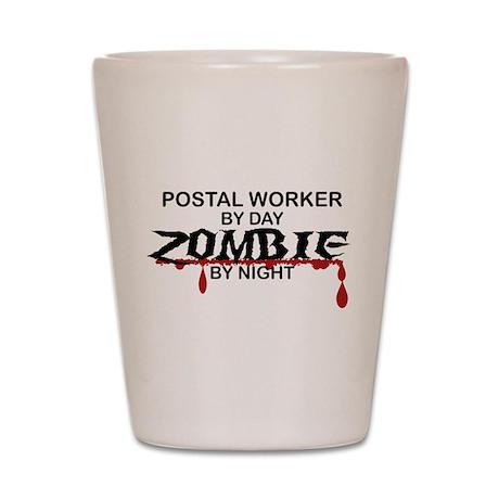 Postal Worker Zombie Shot Glass