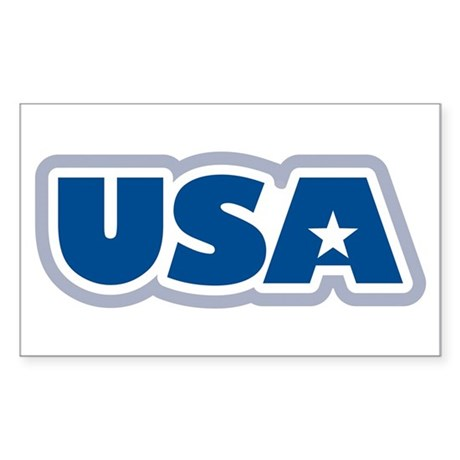 USA: Rectangle Sticker