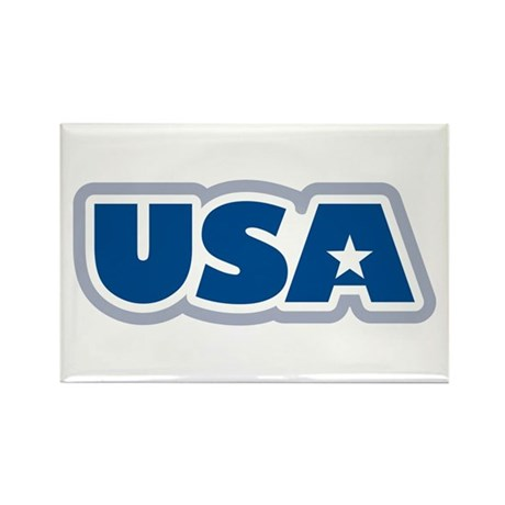 USA: Rectangle Magnet