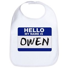 Hello My Name Is Owen - Bib