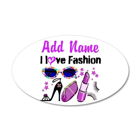 FASHION QUEEN 35x21 Oval Wall Decal