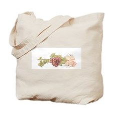 Rose Trio Canvas Tote Bag