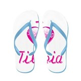 I Love/Heart Tilapia Flip Flops
