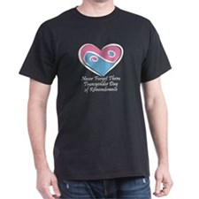 Transgender Day of Remembrance Black T-Shirt