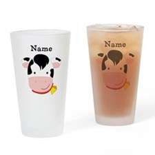 Personalized Cow Drinking Glass