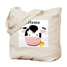 Personalized Cow Tote Bag