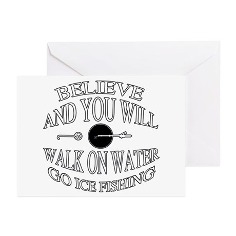 Believe ice fishing Greeting Cards (Pk of 10)