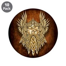 "Odin - God of War 3.5"" Button (10 pack)"