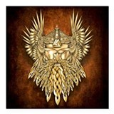 "Odin - God of War Square Car Magnet 3"" x 3&qu"