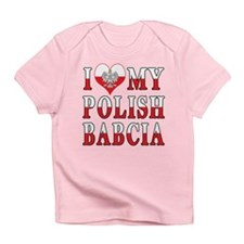 I Heart My Polish Babcia Flag Infant T-Shirt
