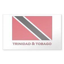 Trinidad & Tobago Flag Stuff Rectangle Decal