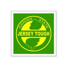 "New jersey Strong Square Sticker 3"" x 3"""