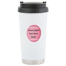 Tennis players have fewer faults! Thermos Mug