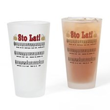 Sto Lat! Song With Beer Mugs Drinking Glass