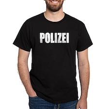German Police Polizei Black T-Shirt