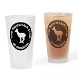 Rhodesian Mountain Club white on black Drinking Gl
