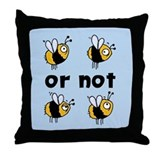 2B or not 2B Throw Pillow blue