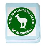 Rhodesian Mountain Club green baby blanket