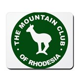 Rhodesian Mountain Club green Mousepad