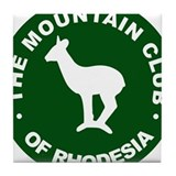 Rhodesian Mountain Club green Tile Coaster