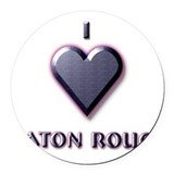 I Love Baton Rouge #5 Round Car Magnet