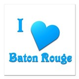 "I Love Baton Rouge #11 Square Car Magnet 3"" x 3"""