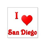 "I Love San Diego #21 Square Sticker 3"" x 3"""
