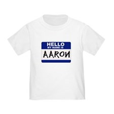 Hello My Name Is Aaron - T