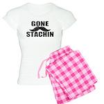 GONE STACHIN - Funny Mustache Women's Light Pajama