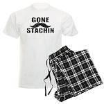 GONE STACHIN - Funny Mustache Men's Light Pajamas