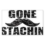 GONE STACHIN - Funny Mustache Sticker (Rectangle 1