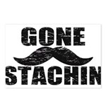 GONE STACHIN - Funny Mustache Postcards (Package o