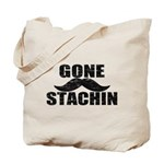 GONE STACHIN - Funny Mustache Tote Bag