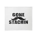 GONE STACHIN - Funny Mustache Throw Blanket