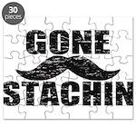 GONE STACHIN - Funny Mustache Puzzle