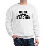 GONE STACHIN - Funny Mustache Sweatshirt