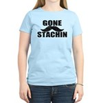 GONE STACHIN - Funny Mustache Women's Light T-Shir