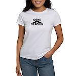 GONE STACHIN - Funny Mustache Women's T-Shirt